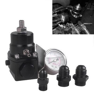 Pressure Regulator New Black High Pressure Fuel Regulator with Boost -8AN V1F4