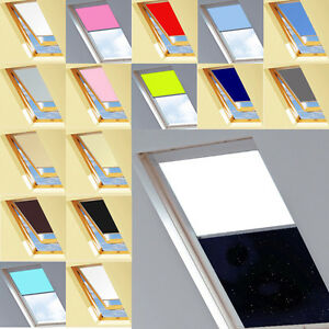 ggl m04 blackout thermal roller blinds designed for velux windows 15 colours ebay. Black Bedroom Furniture Sets. Home Design Ideas