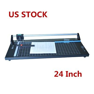 Us 24 Inch Manual Precision Rotary Paper Trimmer Cutter Sharp Photo Paper Cutter
