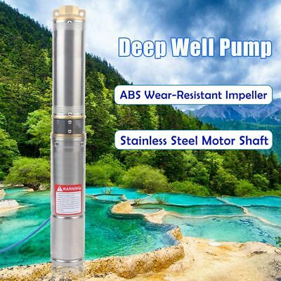 Electric Stainless Steel Submersible Deep Well Water Pump 220v 0.75kw 4000lh De