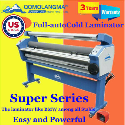 Us Stock Qomolangma 63in Full-auto Wide Format Cold Laminator With Heat Assisted