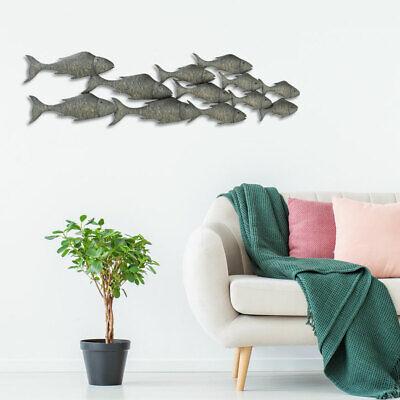 Diseño Relieve Lienzo Pared Hierro Objeto Salón Pasillo Decoración Gris Pescado