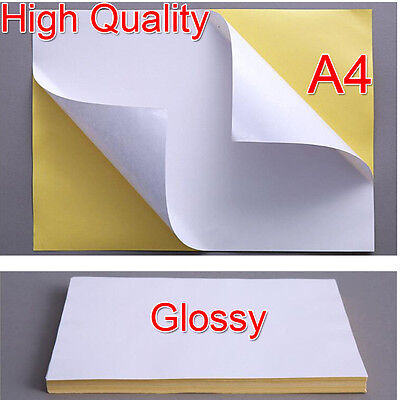 A4 White Glossy Self-adhesive Sticker Sticky Back Label Printing Paper Sheet