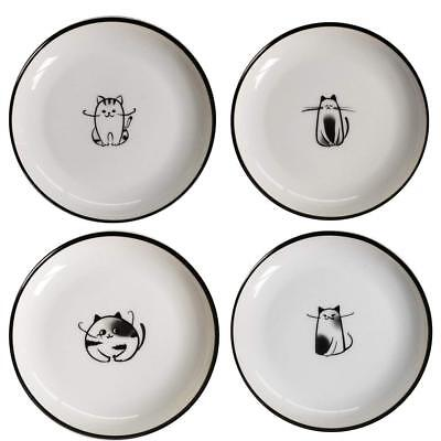 - Cartoon Cat Ceramic Appetizer Plates Dinnerware Party Salad Serving Plates