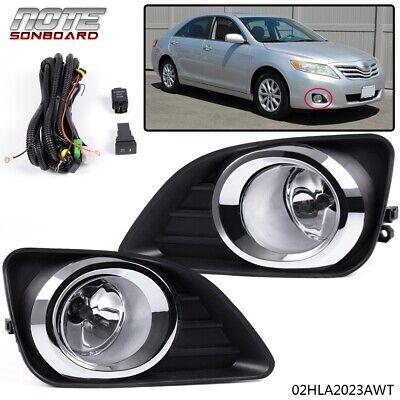 For 2010-2011 Toyota Camry Front Bumper Fog Lights Lamps+Switch Kit Clear Lens ()