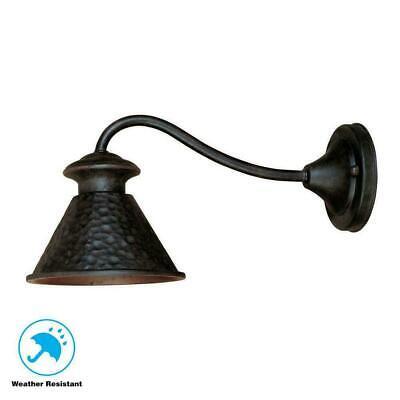 World Imports Dark Sky Essen 1-Light Bronze Outdoor Wall Lamp