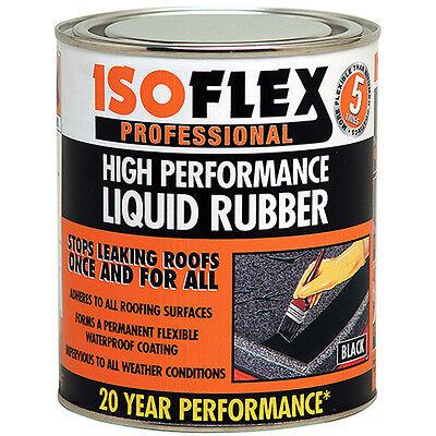 Isoflex High Performance Liquid Rubber Waterproofing Roof Seal Black 4.25 Litre