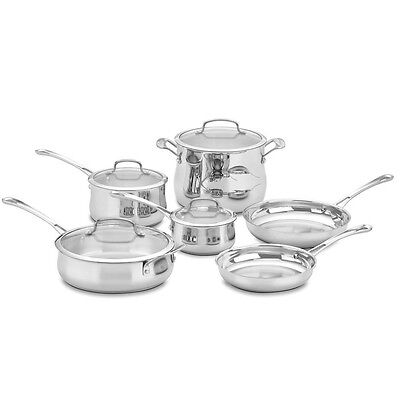 Cuisinart 44-10N Contour Stainless Steel 10 Piece Cookware Set