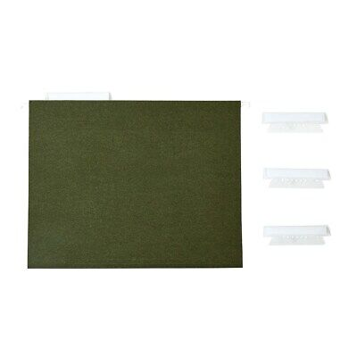 Staples Recycled Reinforced Hanging File Folders 3-tab Ltr Green 25bx 729554