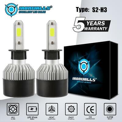 IRONWALLS H3 LED Headlight Conversion Kit 1500W 225000LM 6000K White Lamp Bulbs , usado comprar usado  Enviando para Brazil