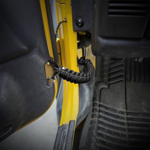 2pcs Black Car Door Limit Strap Bandage Rope Pvc For Jeep