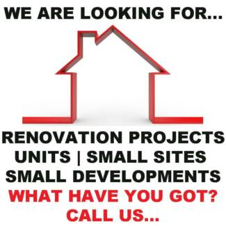 Wanted: Unit block, small development or renovation project.