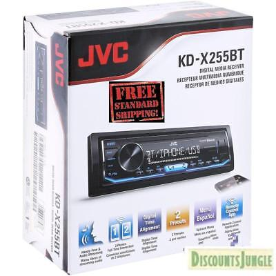 JVC KD-X255BT In Dash MP3 USB Digital Media Car Stereo Radio AM FM Bluetooth