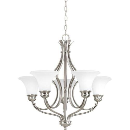 Applause 5-Light Chandelier, 100 W, Brushed Nickel PROGRESS LIGHTING