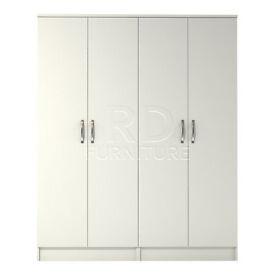 Hampton 4 door wardrobe white finish
