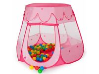Childrens Kid Tent Ball Pool Pit Toy Playhouse Pop Up Nursery Garden 100Ball Bag