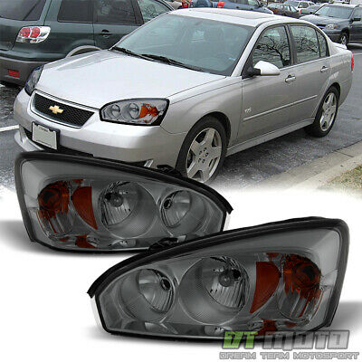 Smoked 2004-2008 Chevy Malibu Replacement Headlights Headlamps 04-08 Left+Right