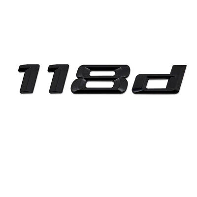 Gloss Black 125d Rear Boot Badge Emblem Number Letter Compatible For 1 Series F20 F21 F52 F40