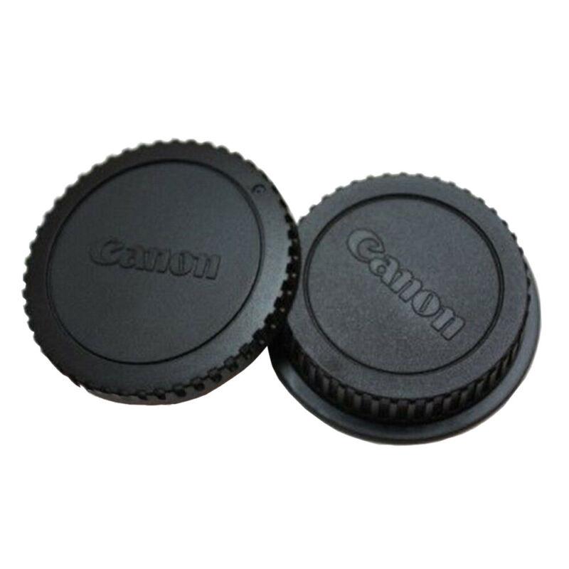 1 x Pack Rear Lens Cover + Camera Body Front Cap for Canon EOS EF DSLR SLR Lens