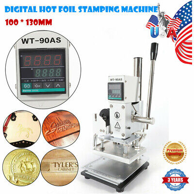 Digital Hot Foil Stamping Machine Leather Pvc Card Embossing Bronzing 100 130mm