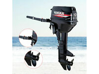 HANGKAI 12 HP 2 Stroke Outboard Motor Boat Engine Water Cooling CDI Manual Start