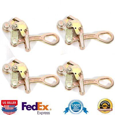 4-pack Alloy Steel 1 Ton Cable Wire Rope Haven Grip Jaw Puller Pulling 2204 Lbs