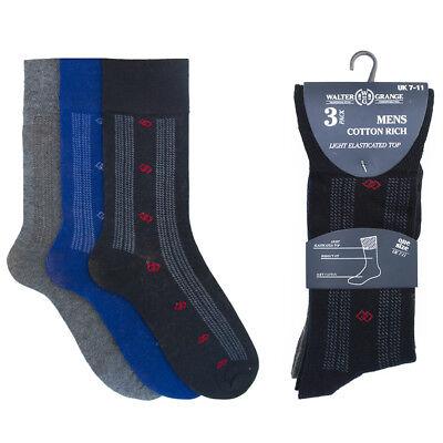 Soft Cotton Argyle Socks - 6 Pairs Mens Soft Top Cotton Rich Dress Designer Argyle Socks Size 7-11