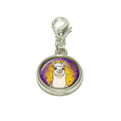 (Llama Sticking Out Tongue Dangling Bracelet Pendant Charm)