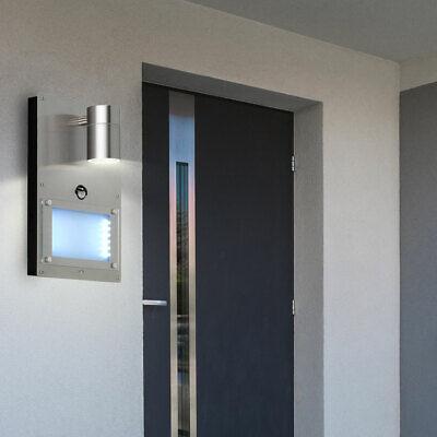 LED Exterior Pared Lámpara Sensor de Movimiento Casa Número Letrero Parcela Down