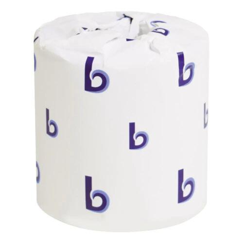 Boardwalk Standard 2-Ply Toilet Paper Rolls, 96 Rolls - 500 Sheet (BWK6145)