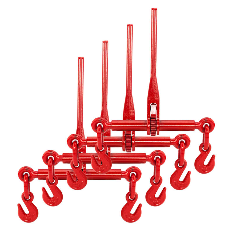 "4 Ratchet Chain Load Binder 3/8"" - 1/2"" Chain Equipment Binders Tie Down 40Cr"
