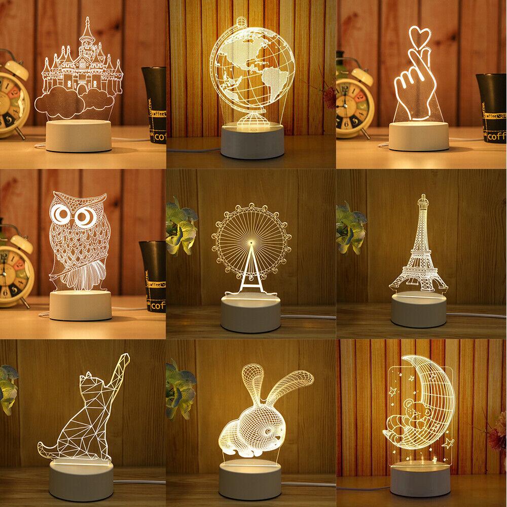 3D LED Lamp Table Lamp Cute Desk Lamp Night Light Night Lamp