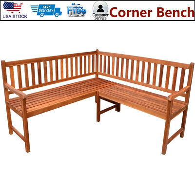 5 Persons Seat Garden Corner Bench Seating Patio Yard Breakfast Nook Dining Home ()