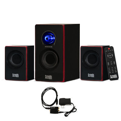 Acoustic Audio AA2103 Home 2.1 Speaker System with Optical I