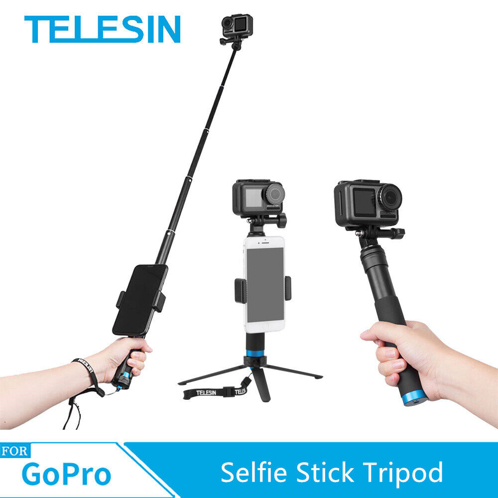 aluminum alloy selfie stick tripod for gopro