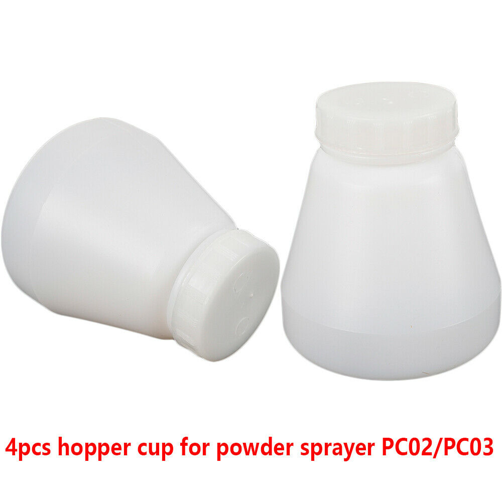 4X Bottle Hopper Cup Fit Powder Coating System Spray//Paint PC02//PC03 Fast Ship