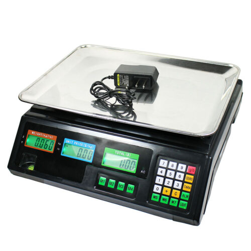 Digital Price Computing Deli Scale Food Produce Electronic Counter Scale 80 LBS
