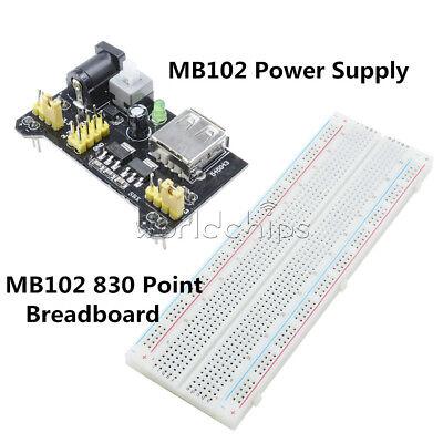 Mb102 Solderless Breadboard Pcb 830 Point 3.3v5v Mb102 Power Supply Module