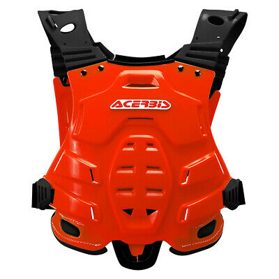 Acerbis Red Body Armour Chest Protection Motocross Enduro Roost Deflector CR CRF