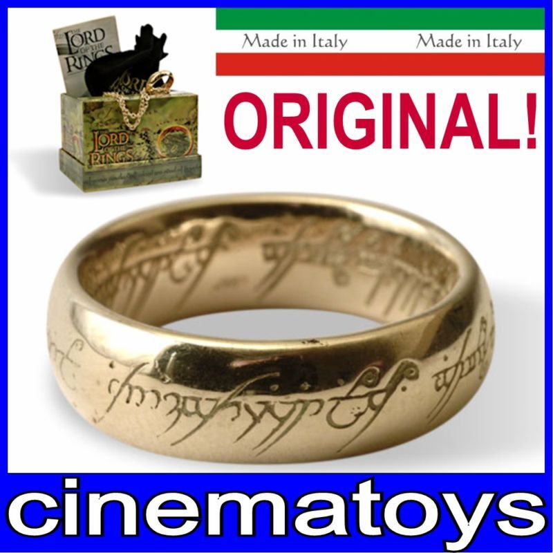 The LORD OF THE RINGS ONE RING OF POWER GOLD PLATED 18 mm Lotr Rare