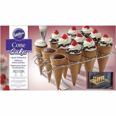 Ice Cream Cone Cupcake Holder (Wilton Cupcake Cake Ice Cream Cone 12-Cavity Baking Decorating Rack Holder)