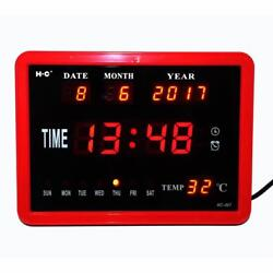 Alarm Clocks Modern Style Digital Multi Functional Calendar Temperature Displays