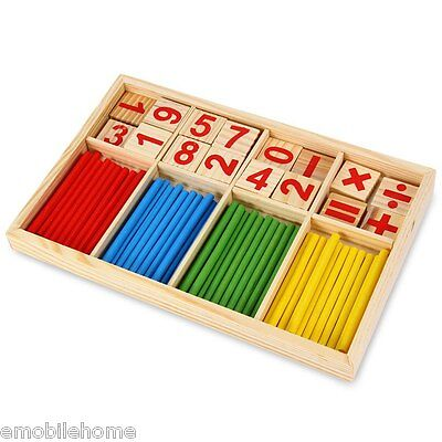 8~20 Months 3 Years+ Montessori Intelligence Stick Preschool Educational Toys