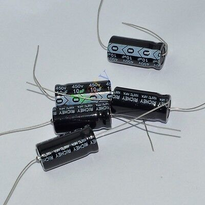 10pc 450V 33uf 105C New long leads Axial Electrolytic Film Capacitor audio amps
