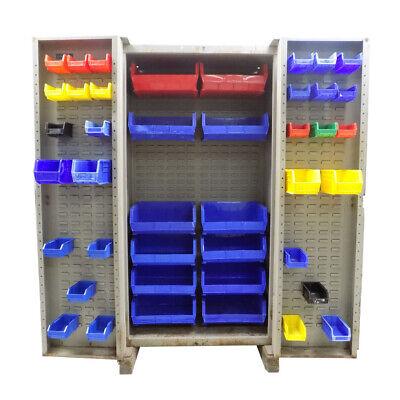 Strong Heavy Duty 38 W Steel Akrobin Storage Cabinet W 42 Akro Bins