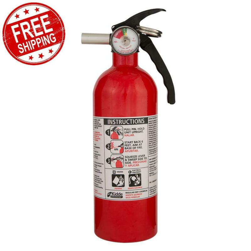 Fire Extinguisher Safety 5-B:C Rated Disposable Emergency Home Car Garage Boat