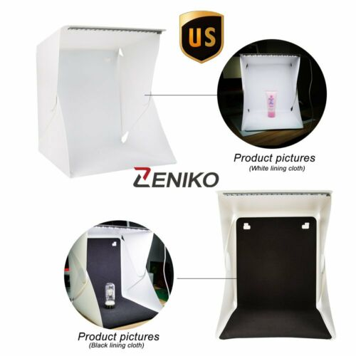 US Portable Mini Photo Studio Light Box Photography Backdrop