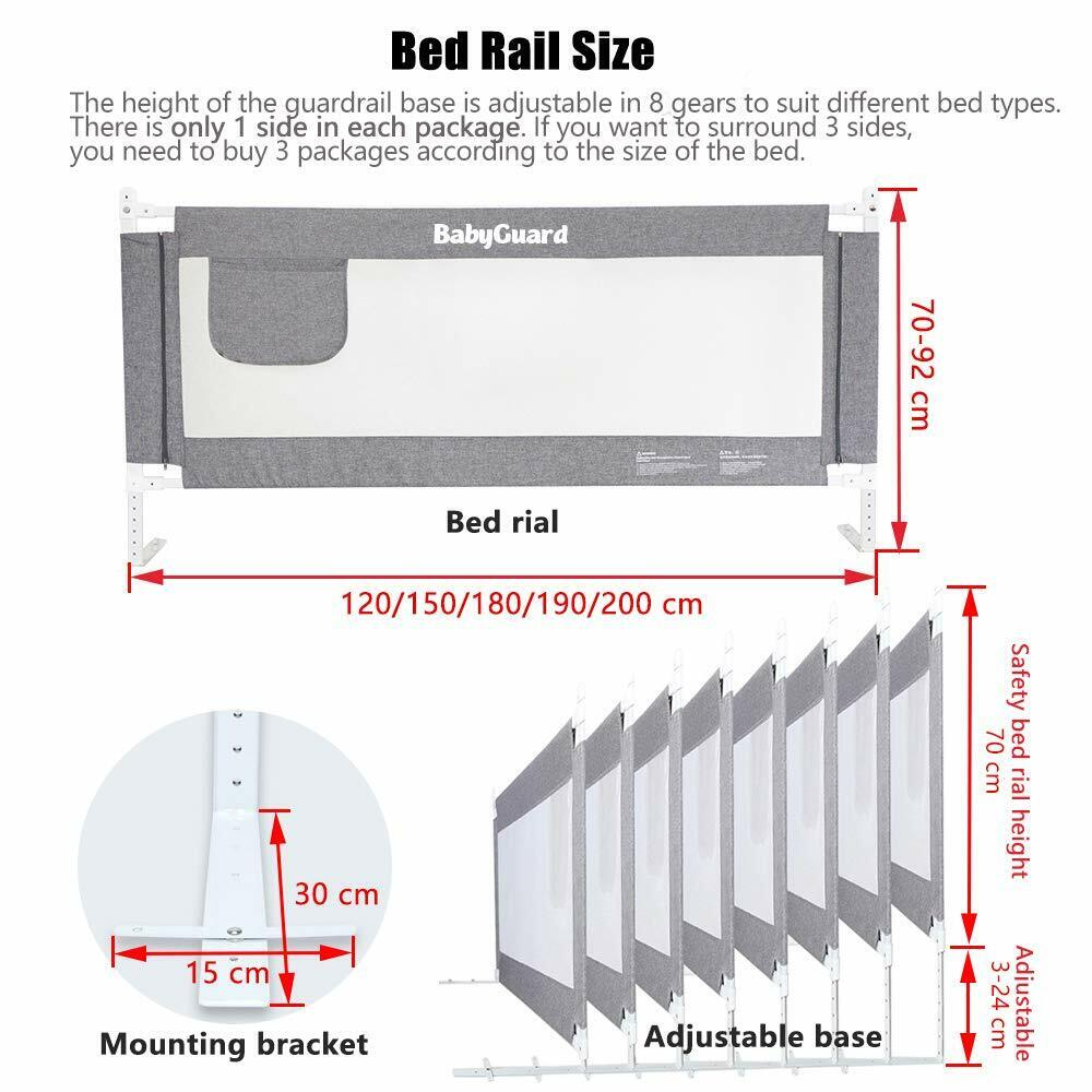 baby guard bed rail kids toddlers long