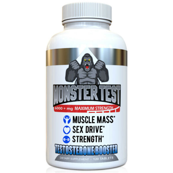 Testosterone Booster Monster Test All Natural For Men 6000mg of Power + Tribulus 1