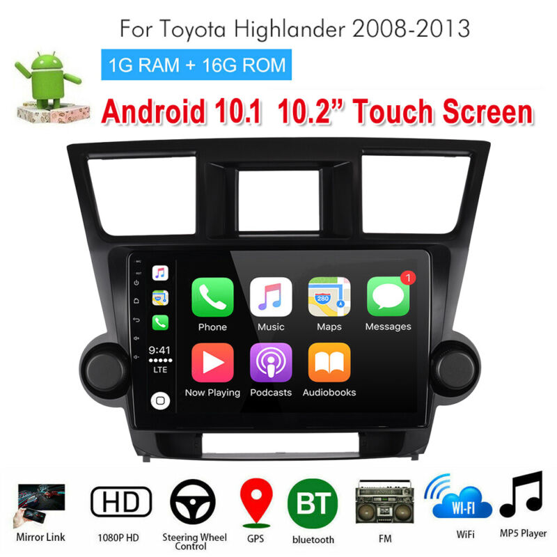 Stereo Radio  Navigation for Toyota Highlander Android 10.1 Player 10.2